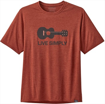 Patagonia Capilene Cool Graphic T-Shirt, L Guitar/Roots Red