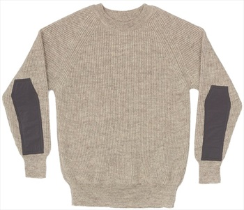 Wild Country Rays Sweater British Made Wool Jumper, S Taupe Melange