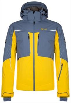 Kilpi Widalpen Alpine Sport Snowboard/Ski Jacket, L Dark Blue/Yellow
