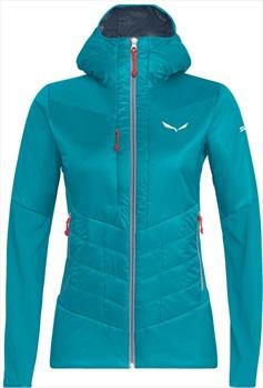 Salewa Ortles Hybrid Tirolwool Women's Insulated Jacket, UK 12 Ocean