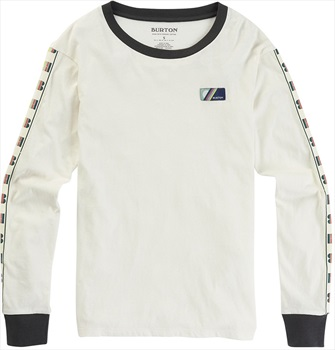 Burton Bel Mar LS Women's Long Sleeve T Shirt, S Stout White