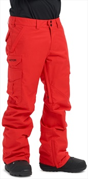Burton Cargo Relaxed Fit Snowboard/Ski Pants, XS Flame Scarlet