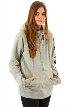 Planks Sister Hood Half Zip Hoodie, M Sports Grey