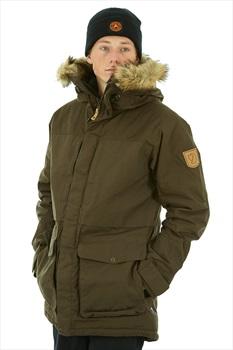 Fjallraven Barents Waterproof Padded Parka Jacket, XL Dark Olive