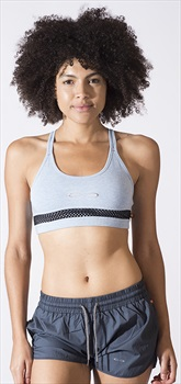 Carrot Banana Peach Bamboo Tear Drop Fitness/Sports Bra, M Denim