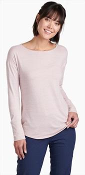 Kuhl Intent Krossback Women's Long Sleeve Top, M Pale Pink