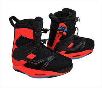 Ronix Kinetic Project Intuition Wakeboard Binding, UK 8 Red
