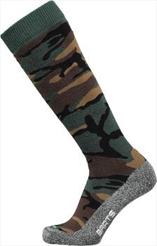 Barts Skisock Camo Ski/Snowboard Socks UK 6-8 Camo Green