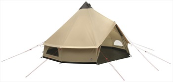 Robens Klondike Grande Polycotton Camping Tipi Tent, 10 Man Brown