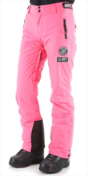 Superdry Ski Run Pant Women's Ski/Snowboard Pants, S Pink Grit 2020