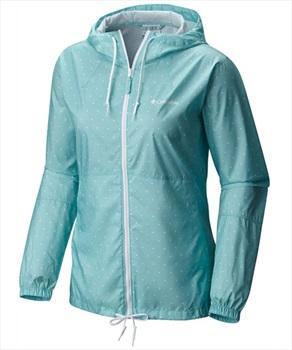 Columbia Flash Forward Women's Windbreaker Jacket M Iceberg Polka Dot