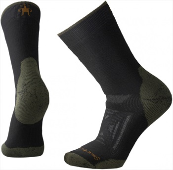 Smartwool PhD Outdoor Heavy Crew Hiking Socks, 5-7.5 Black