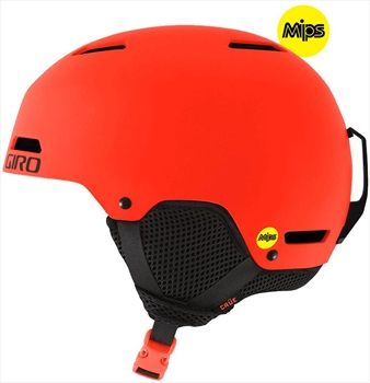Giro Crue MIPS Kids Ski/Snowboard Helmet, XS Matte Deep Orange