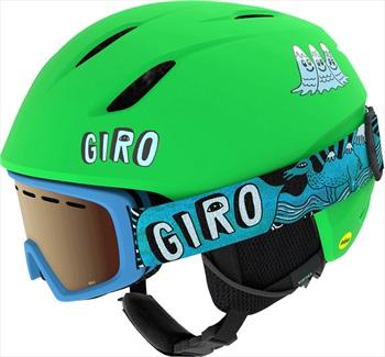 Giro Launch Combo Kids Ski/Snowboard Helmet, XS Bright Green Tagazoo