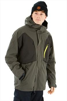 Bonfire Firma 3-In-1 Stretch Men's Ski/Snowboard Jacket, M Charcoal
