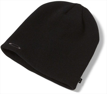 Oakley Fine Knit Snowboard/Ski Beanie Hat, One Size Blackout
