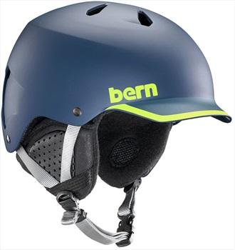 Bern Watts EPS Winter Snowboard Helmet M Matte Navy/Hyper Green