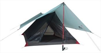 MSR Thru Hiker Mesh House 3 Trekking Pole Shelter + 100 Wing & FP