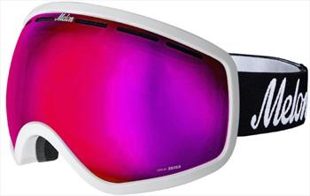 Melon Chief Pink Chrome Snowboard/Ski Goggle, M/L White