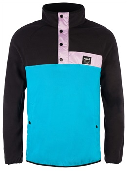 Planks Peace Fleece Unisex Pullover Jacket, S Midnight Teal