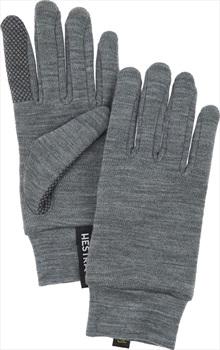 Hestra Merino Touch Point Ski/Snowboard Liner Gloves, M Grey