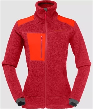 Norrona Trollveggen Thermal Pro Women's Fleece Jacket UK 10 Jester Red