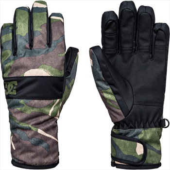 DC Franchise Kids' Ski/Snowboard Gloves, S Woodland Camo