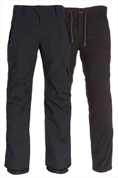 686 Smarty Cargo 3-In-1 Ski/Snowboard Pants, M All Black