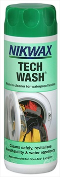 Nikwax Tech Wash Clothing and Equipment Cleaner 300ml White
