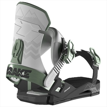 Drake Adult Unisex Reload Snowboard Bindings, M/L Blk/Grey/Green 2019