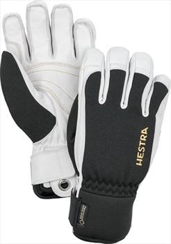 Hestra Army Leather Gore-Tex Short Ski/Snowboard Gloves, M Black