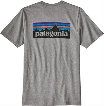 Patagonia P-6 Logo Responsibili-tee T-Shirt, L Gravel Heather