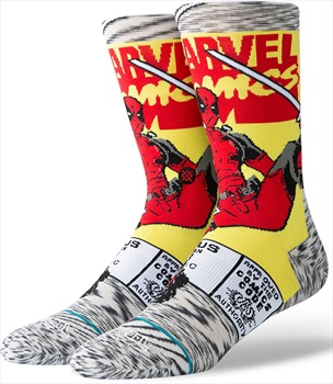 Stance Deadpool Skate/Crew Socks, L Deadpool Comic