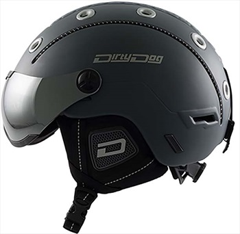 Dirty Dog Commanche Snowboard/Ski Visor Helmet, S Matte Dark-Grey