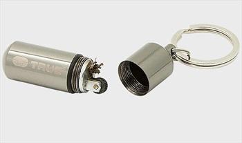 True Utility Firestash+ Waterproof Keyring Lighter, Chrome
