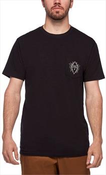 Black Diamond Rays Pocket Tee Organic Cotton T-shirt, M Black