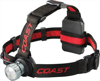 Coast HL45 Headlamp IPX4 LED Head Torch, 400 Lumens Red