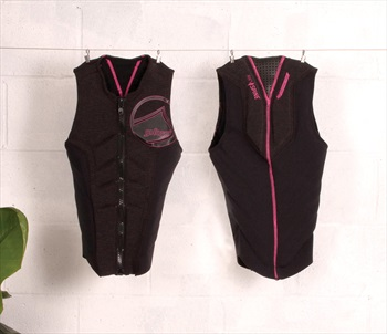 Liquid Force Ghost Comp Ladies Wakeboard Impact Vest L Coal Pink