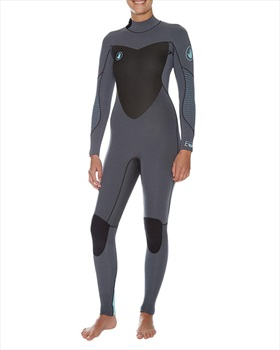Body Glove EOS Back Zip 4/3 Ladies Surfing Wetsuit, UK 9-10 Grey