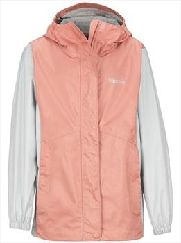 Marmot PreCip Eco Girl's Waterproof Jacket, M Coral Pink/Bright Steel