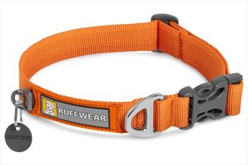 Ruffwear Front Range Collar Webbing Dog Collar, L Campfire Orange