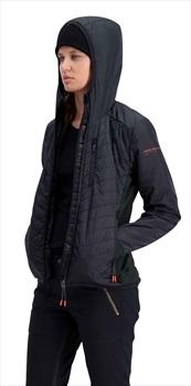 Mons Royale Neve Insulation Hood Mid Jacket Merino Midlayer S Black