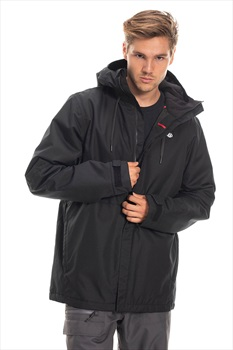 686 Foundation Insulated Ski/Snowboard Jacket, L All Black