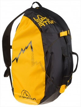 La Sportiva Medium Rock Climbing Rope Bag, One Size Black/yellow