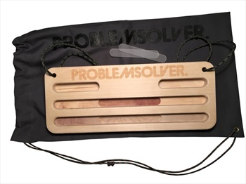 Problemsolver Training Board Portable Wooden Hangboard, 40x16x2.4cm
