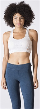 Carrot Banana Peach Bamboo Y Back Sports Bra, XS Light Ash