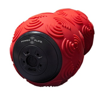Power Plate DualSphere Vibration Foam Massage Roller, One Size Red