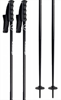 Nordica Alpine Classic 18mm Ski Poles, 125cm Black/Red