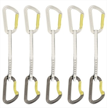 DMM Shadow Set Dynatec Rock Climbing Quickdraws, 5 Pack - 12cm