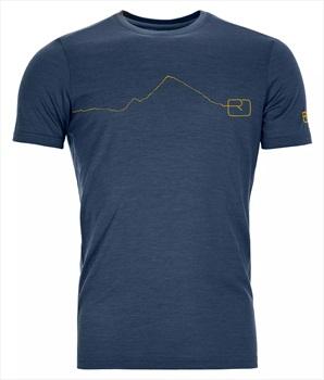 Ortovox 120 Tec Mountain Merino Wool T-Shirt, XL Blue Lake